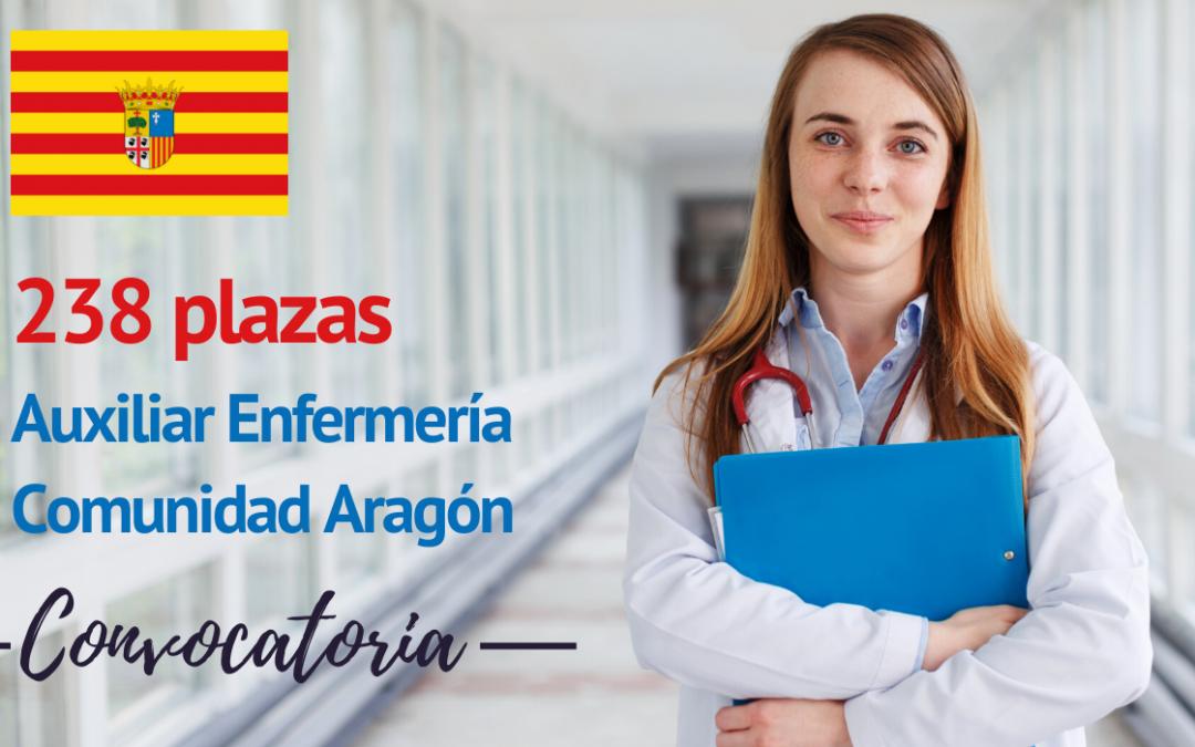 238 plazas Auxiliar de enfermería en Aragón