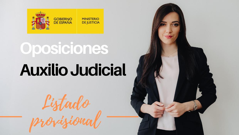Listado provisional Admitidos Auxilio Judicial