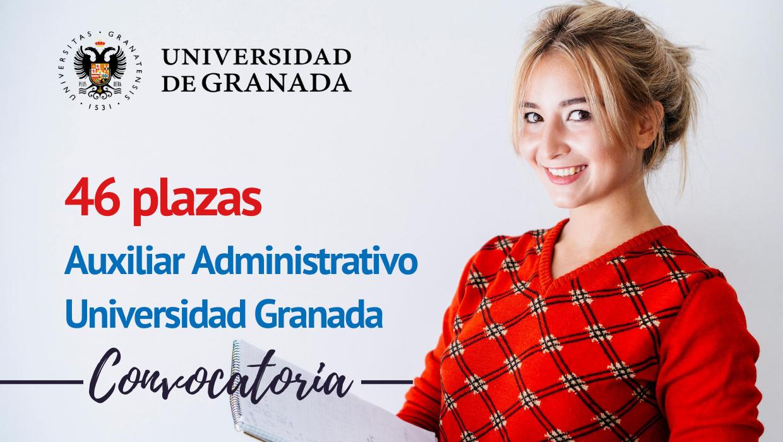 46 plazas Auxiliar Administrativo Universidad Granada