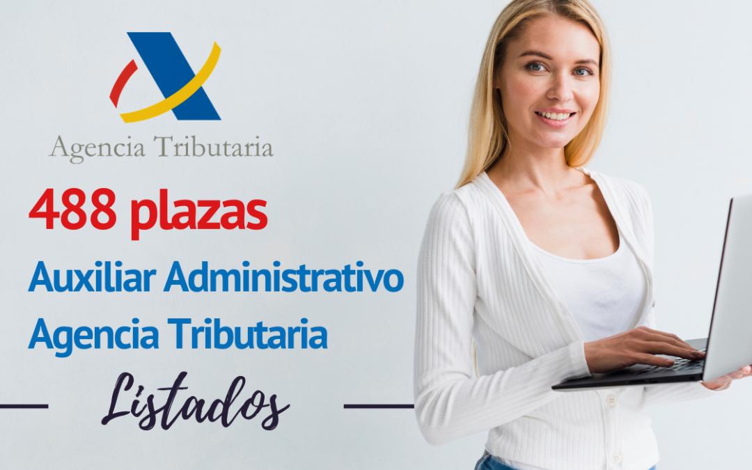Listado provisional admitidos Auxiliar Control e Información (Campaña Renta)