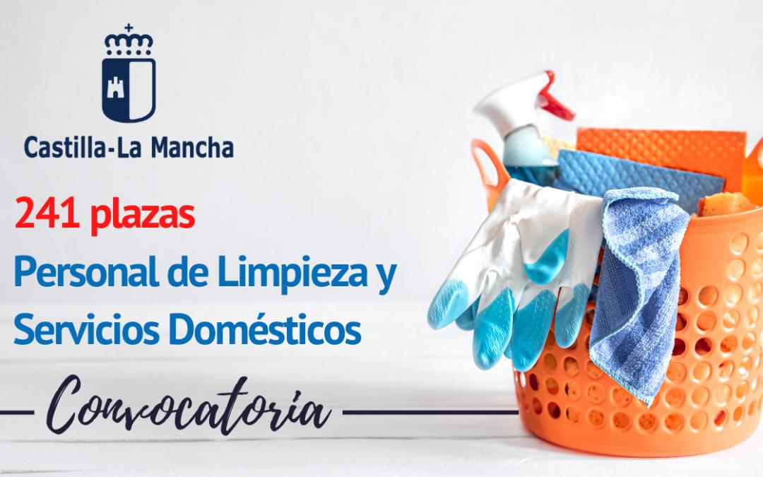 Convocatoria Personal de Limpieza y Servicios Domésticos Castilla la Mancha