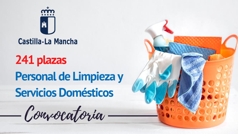 Convocatoria Personal de Limpieza y Servicios Domésticos CLM